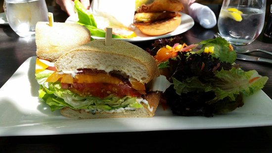 Solbar - Solage Calistoga: The BLT sandwich served on an English muffin