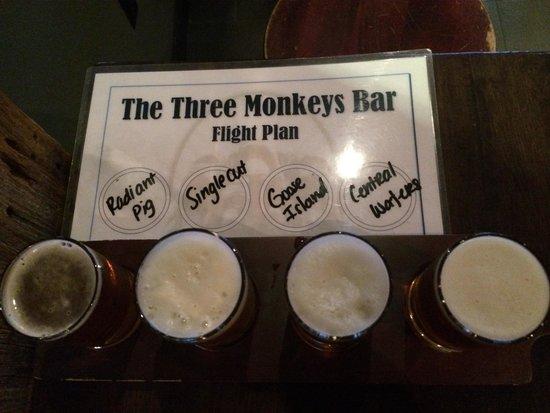 The Three Monkeys: No shortage of choice