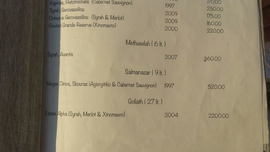 SPHINX Restaurant: Massive bottles of grog. Lol