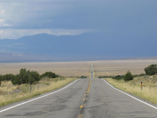 never ending road Hwy  50 - Picture of Loneliest Highway in America