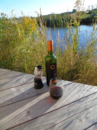 Magnetic Hill Winery and B&B: Wine and BBQ down by the pond