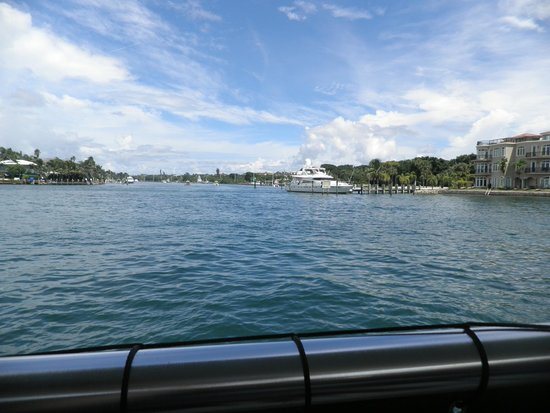 South Florida Diving Headquarters: going out the intercoastal