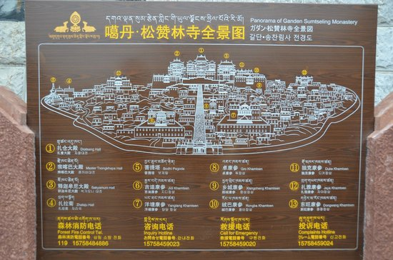 Sumtsaling Monastery: Map
