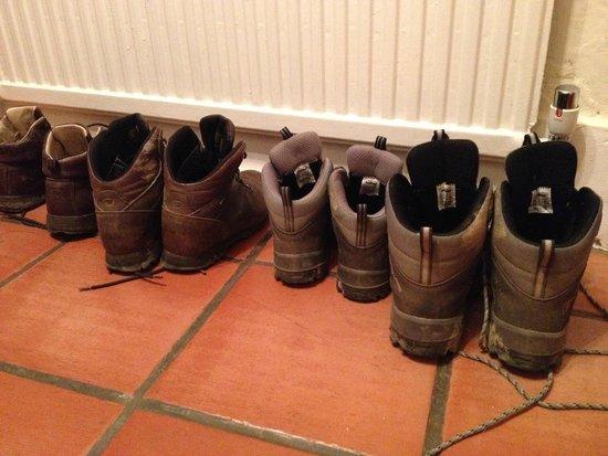Yeoford, UK: Walker's boots