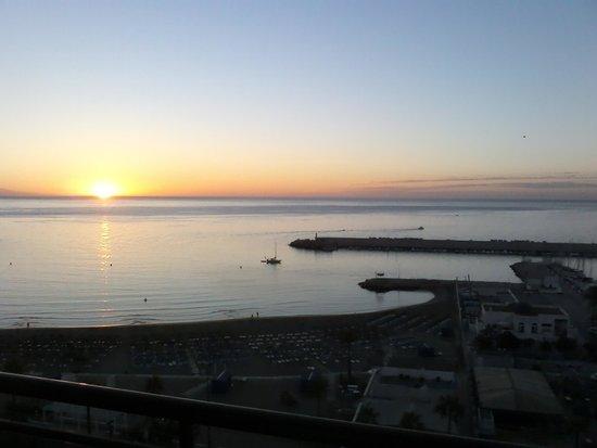 Florida Spa: sunrise from balcony room 918