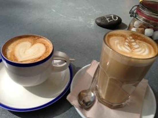 Chesters By The River: Coffee for two!