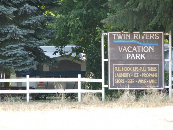 Twin Rivers Vacation Park: View of our site #15 from road.