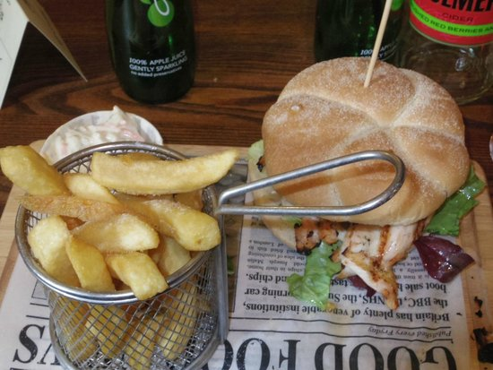 Cart and Horses: Chicken in a bun I think-so well presented