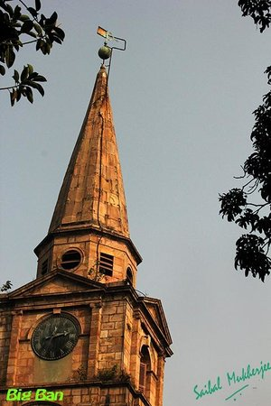 St. John's Church: The spire holds a giant clock, which is wound every day.