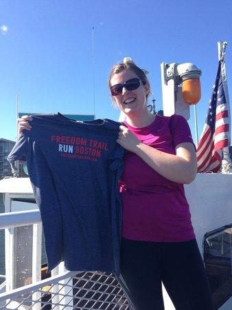 Freedom Trail Run: On the ferry back