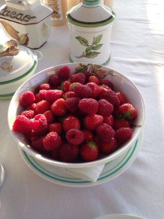 Domaine du Tronchay : Fruits frais au petit déjeuner.