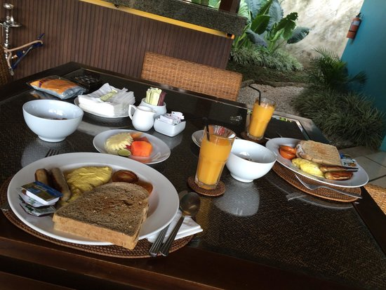 The Ahimsa: Our breakfast in our privet Villa Some thing will not forget at all 