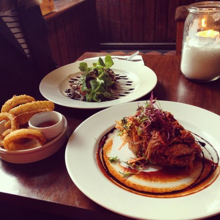 The Shakespeare Restaurant: Pulled Pork, and Mushroom Open Sandwiches