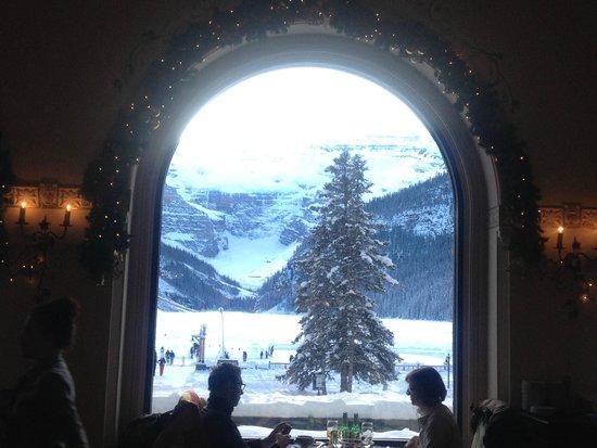 Banff Adventures: Lake Louise, vista desde el restaurante del Fairmont Hotel
