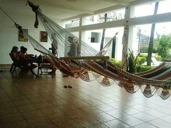 HC Liri Hotel: Terraza con hamacas