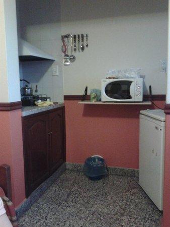 Apart Hotel Ref: Zona de cocina compartida con el Comedor