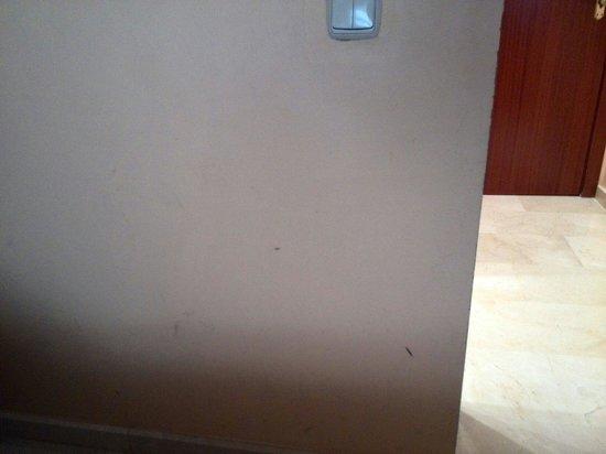 Hotel Pamplona Plaza: Manchurrones en la pared