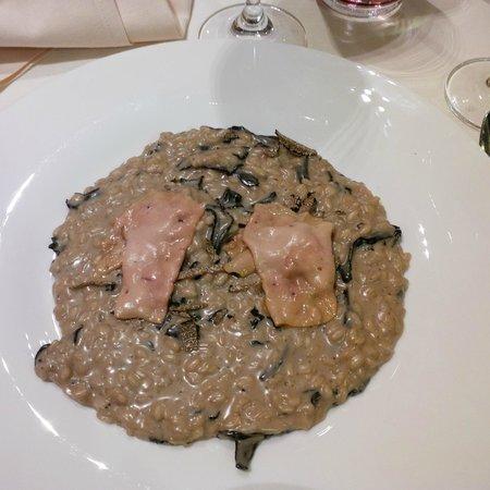 Aqualux Hotel Spa & Suite Bardolino: riso con porcini e fegato d'oca affumicato