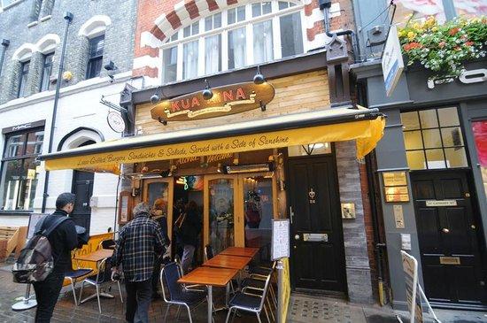 London Food Lovers Tours: Favorite Hawaiian Burger place - in Soho