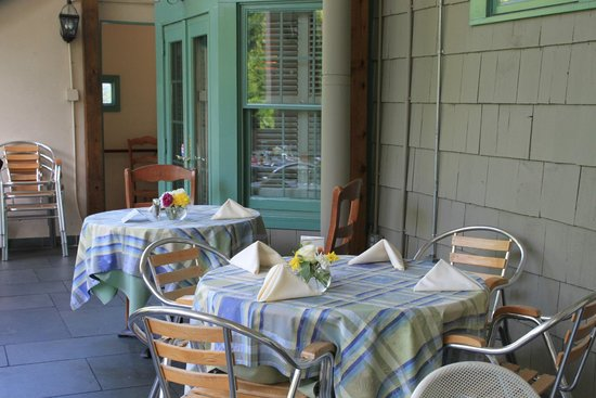 """La Ferme Restaurant: Another view of the """"outdoor"""" area"""