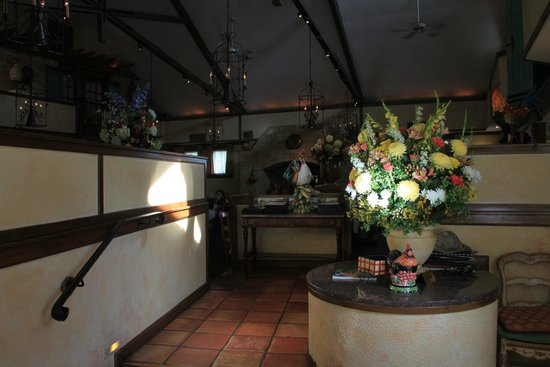 La Ferme Restaurant: The reception podium