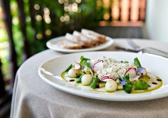 Zagroda Bamberska Hotel: Gzik - tradional local appetizer based on organic cottage cheese