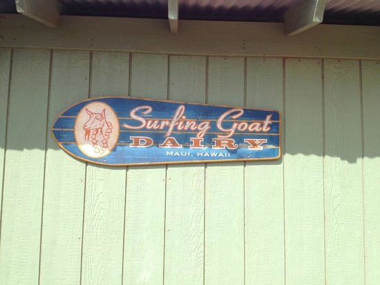 Surfing Goat Dairy: Here is the Sign