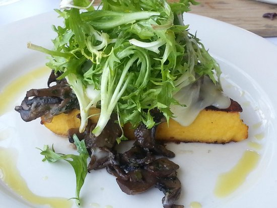 Black Salt Restaurant: Polenta steak with mushroom ragout and taleggio cheese