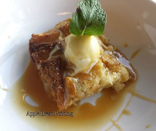 Chives Door County: Apple bread pudding