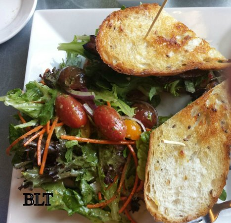 Chives Door County: BLT with avocado and side salad