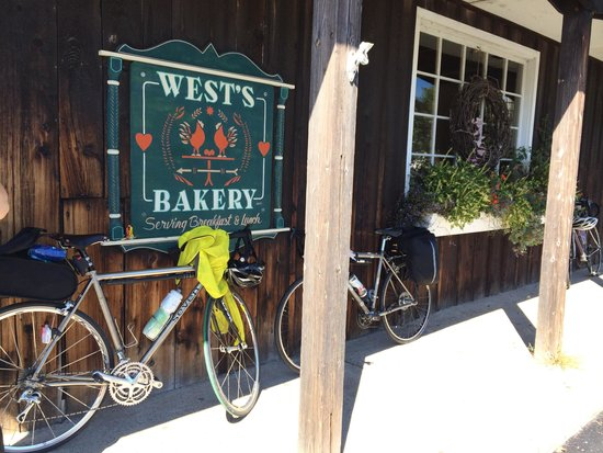 West's Bakery Incorporated: Our bikes outside