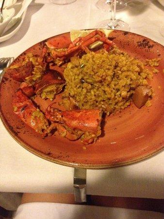 Restaurante Pinatar: Paella all'astice
