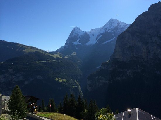 Hotel Eiger: The view from our balcony