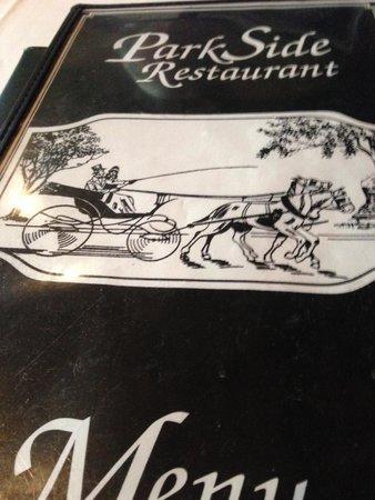 Parkside Restaurant: Parkside's very complete menu