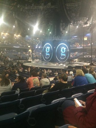 Allstate Arena: Before Garth Brooks concert started. Section 110, row f, seat 21
