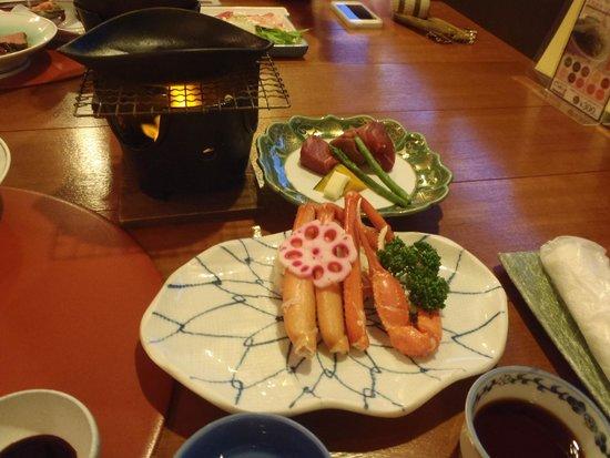 Sennen-no Yu Gonzaemon : 夕食・香住蟹