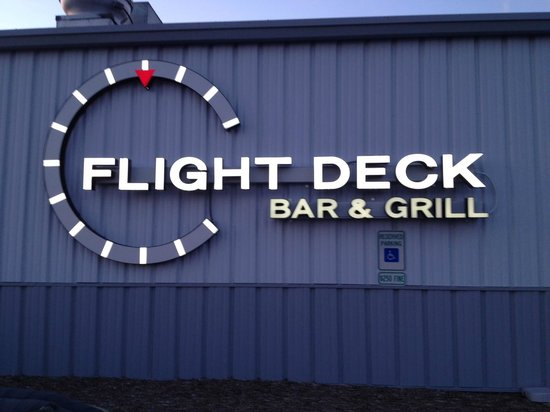Flight Deck Bar Amp Grill From The Parking Lot Picture Of