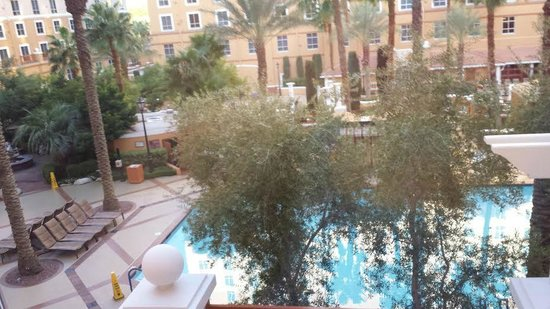 Wyndham Grand Desert: View of adult pool area from suite