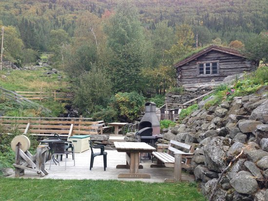 Lommedalen, Norwegen: The BBQ area
