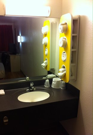 Motel 6 New London - Niantic: Bathroom sink area in room. It and actual bathroom were updated and clean.