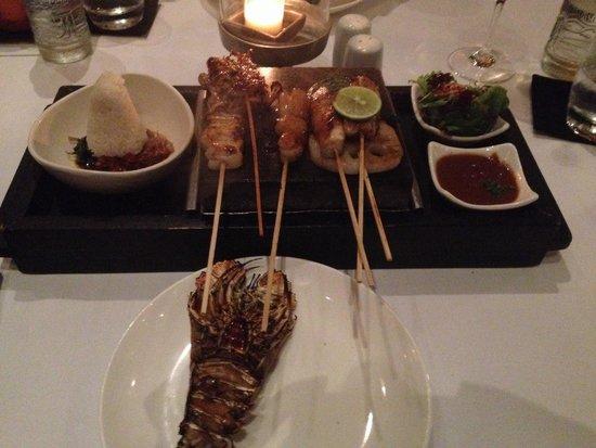 CHANDI: Seafood hot rock platter