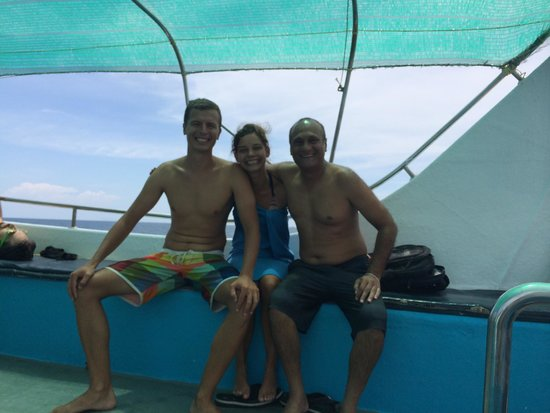 Sail Rock Divers Resort: Mike and Katja from Poland doing their Dive Master at Sail Rock!!