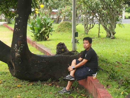 University of the Philippines: just relaxing