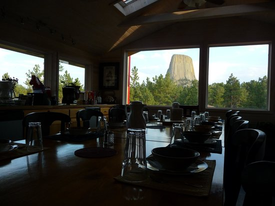 Devils Tower Lodge : View from  Devil's Tower Lodge
