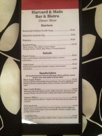 Hotel Indigo Atlanta Airport College Park: Restaurant menu