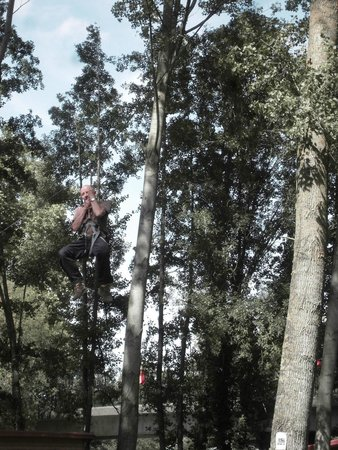 Saint-Genes-de-Lombaud, France : High thrills on the zip-wire
