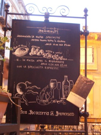 Antica Focacceria San Francesco: menù - ci sono anche quelli cartacei