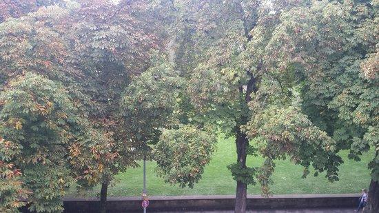 BEST WESTERN PREMIER Hotel Victoria: Vue sur les arbres du parc depuis la chambre