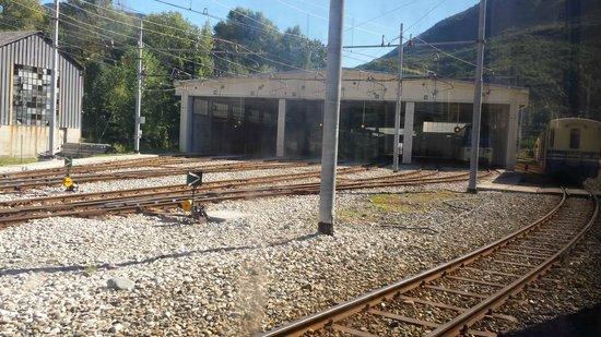 Vigezzina-Centovalli Railway : panorama stazione di partenza