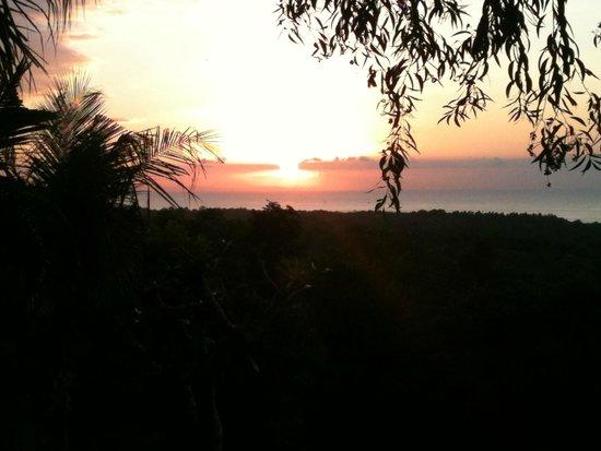 Kamafari Surfcamp: Aussicht vom Camp